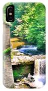 Mill Creek Park Lanterman's Mill And Covered Bridge IPhone Case