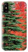 Minnesota Autumn Spruce Maple IPhone Case