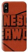 Minnesota Timberwolves Leather Art IPhone Case