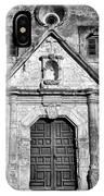 Mission Concepcion Entrance - Bw IPhone Case