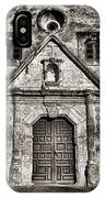 Mission Concepcion Front - Toned Bw IPhone Case