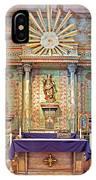 Mission San Miguel Arcangel Altar, San Miguel, California IPhone Case