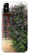Mission Window With Purple Flowers IPhone Case