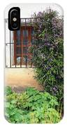 Mission Window With Purple Flowers Vertical IPhone Case