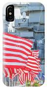 Missouri Battleship Memorial Flags IPhone Case