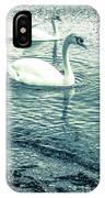 Misty Blue Swans IPhone Case