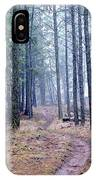 Misty Morning Trail In The Woods IPhone Case