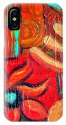 Mixed Media Abstract  IPhone Case