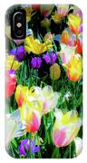 Mixed Tulips In Bloom  IPhone Case