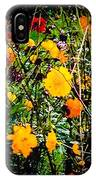 Mixture Of Flowers On Summer Day IPhone Case