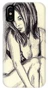 Model Quick Drawing IPhone Case