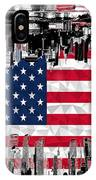 Modern City Scape American Flag IPhone Case