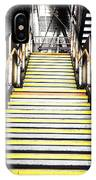 Modern Subway Steps In London Canary Wharf District IPhone Case