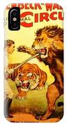 Modern Vintage Circus Poster IPhone X Case
