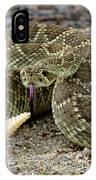 Mohave Green Rattlesnake Striking Position 3 IPhone Case