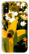 Molten Gold Flowers IPhone Case