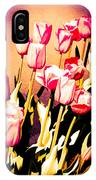 Molten Gold Tulips IPhone Case