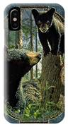 Mom And Cub Bear IPhone Case