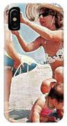 Mom With Girls At Beach IPhone Case