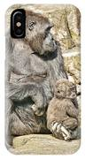 Momma And Baby Gorilla IPhone Case