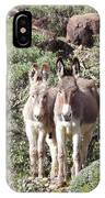 Mommy And Baby Burro IPhone Case