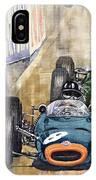 Monaco Gp 1964 Brm Brabham Ferrari IPhone Case