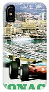Monaco Grand Prix Racing Poster - Original Art Work IPhone Case