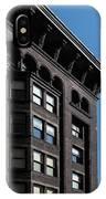 Monadnock Building Cornice Chicago B W IPhone Case