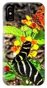 Monarch Butterfly And Zebra Butterfly IPhone Case