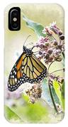 Monarch Butterfly Blank Note Card IPhone Case
