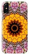 Monarch Butterfly On Milkweed Kaleidoscope IPhone Case