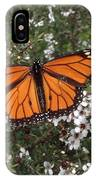 Monarch Butterfly On New Zealand Teatree Bush IPhone Case