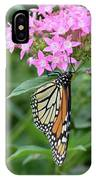 Monarch Butterfly On Pink Flowers  IPhone Case