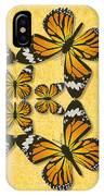 Monarch Butterfly Pin Wheel IPhone Case