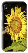 Monarch On A Sunflower IPhone Case
