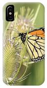Monarch On A Thistle  IPhone Case