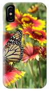 Monarch On Blanketflower IPhone Case