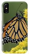 Monarch On Goldenrod IPhone Case