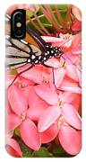 Monarch On Huneysuckle IPhone Case