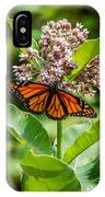 Monarch On Milk Weed IPhone Case