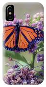 Monarch On The Milkweed IPhone X Case