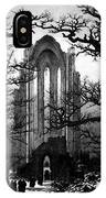 Monastery Graveyard In The Snow Cdf IPhone Case
