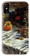 Monet Claude Still Life Apples And Grapes IPhone Case
