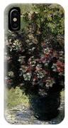 Monet Claude Vase Of Flowers IPhone Case