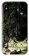 Monet Dejeuner Sur L Herbe A Chailly IPhone Case
