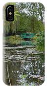 Monet's Bridge At Giverny, France IPhone Case