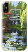 Monets Garden Painting Palette Knife IPhone Case