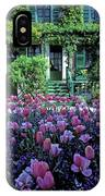 Monet's House With Tulips IPhone Case