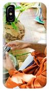 Monks Blessing Buddhist Wedding Ring Ceremony In Cambodia Asia IPhone Case