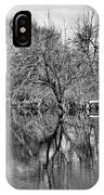 Monochrome Autumn Reflections IPhone Case